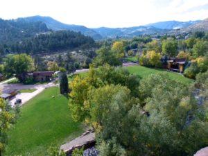 Planet Bluegrass Aerial - Lyons Colorado